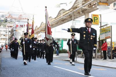 1月7日 恒例の熱海消防 出初式